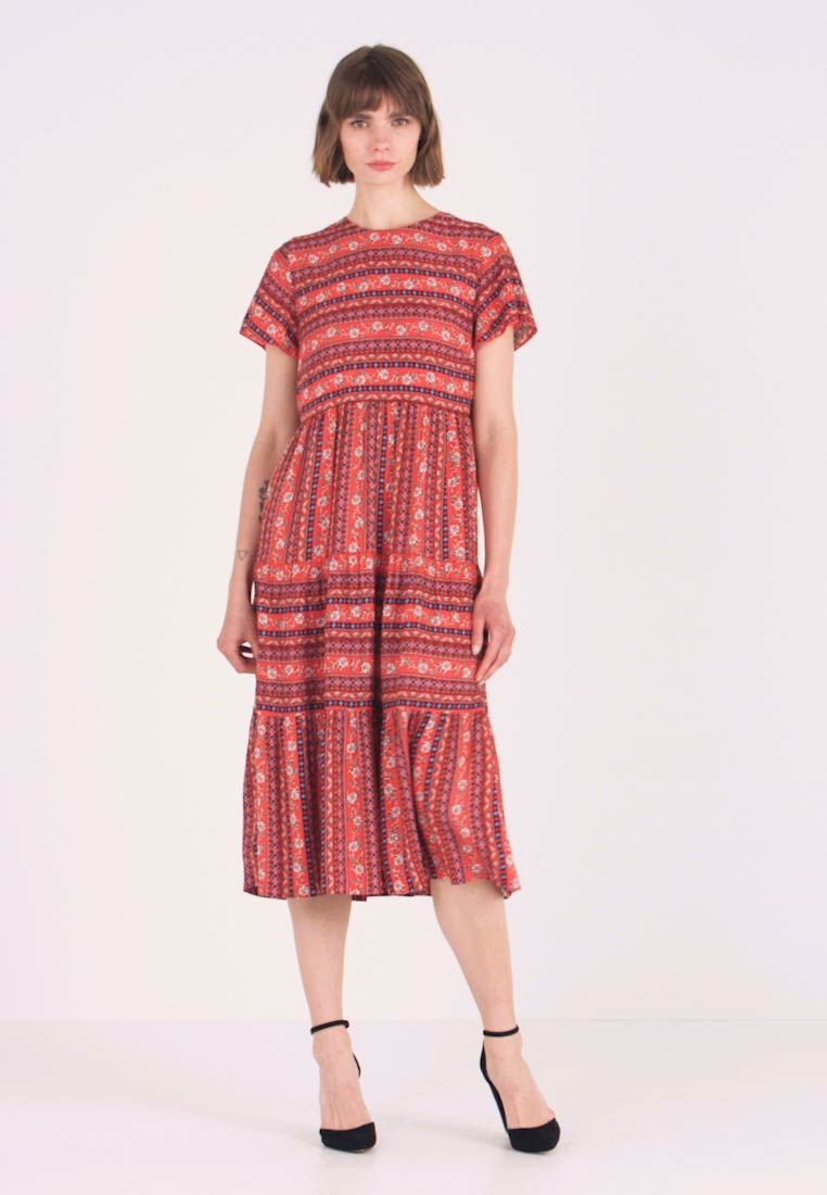 Louche - THEODEN FOLKSTRIPE - Day dress - red - 1