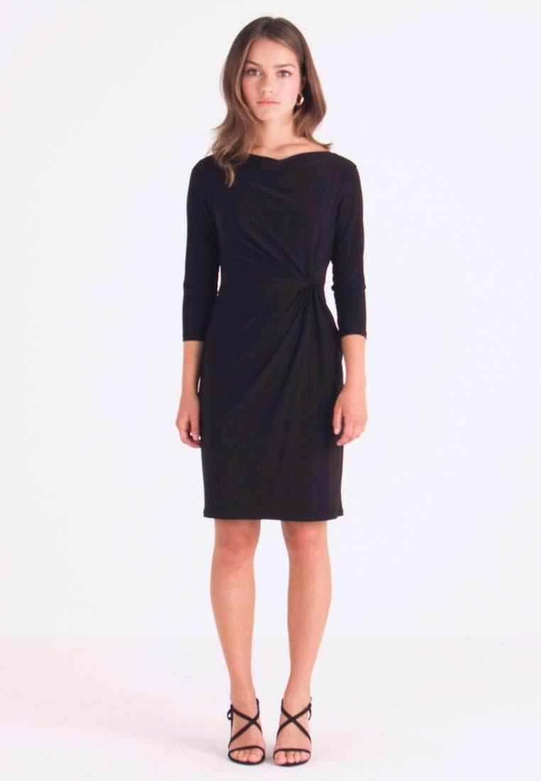 Lauren Ralph Lauren Petite - TRAVA 3/4 SLEEVE DAY DRESS - Robe fourreau - black - 1