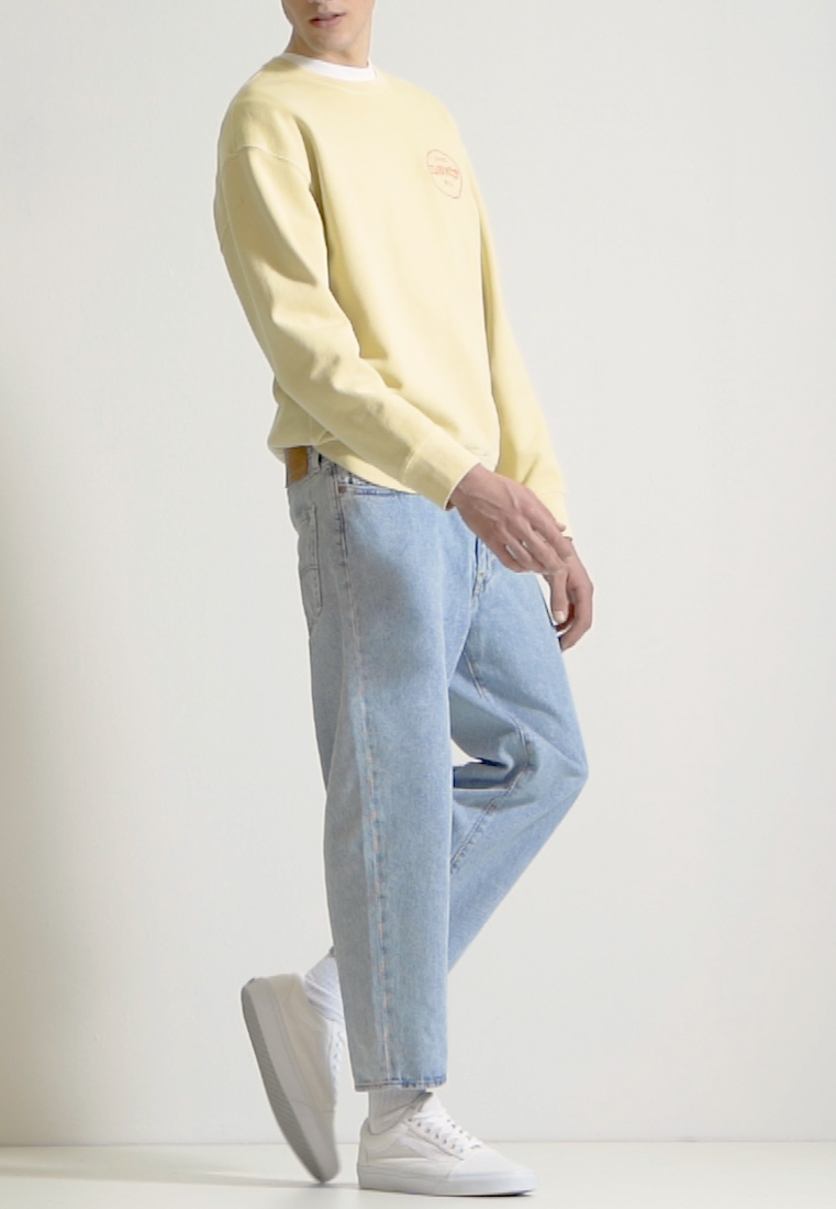 Levi's® - STAY LOOSE TAPER CROP - Džíny Relaxed Fit - royal stonewash - 1