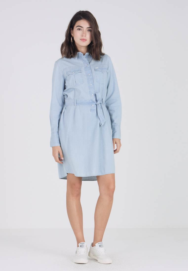 Lee - DRESS - Spijkerjurk - faded blue - 1