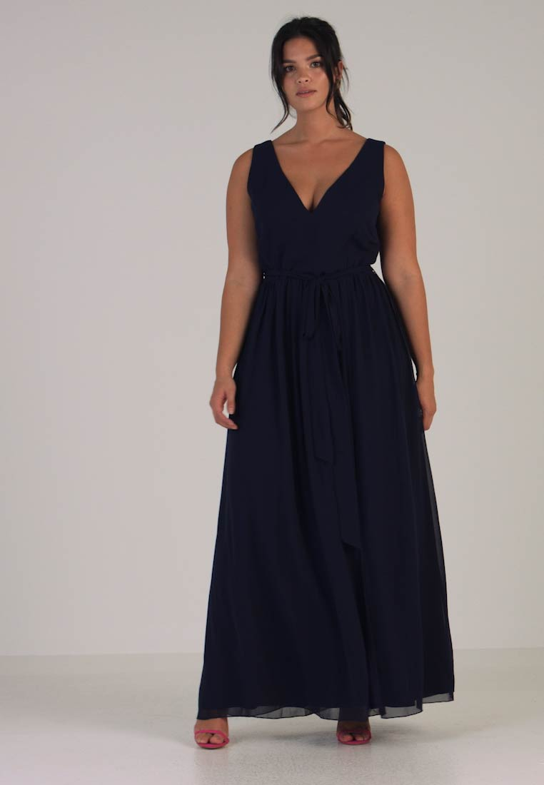 Little Mistress Curvy - ROSE NECK MAXI DRESS - Occasion wear - navy - 1