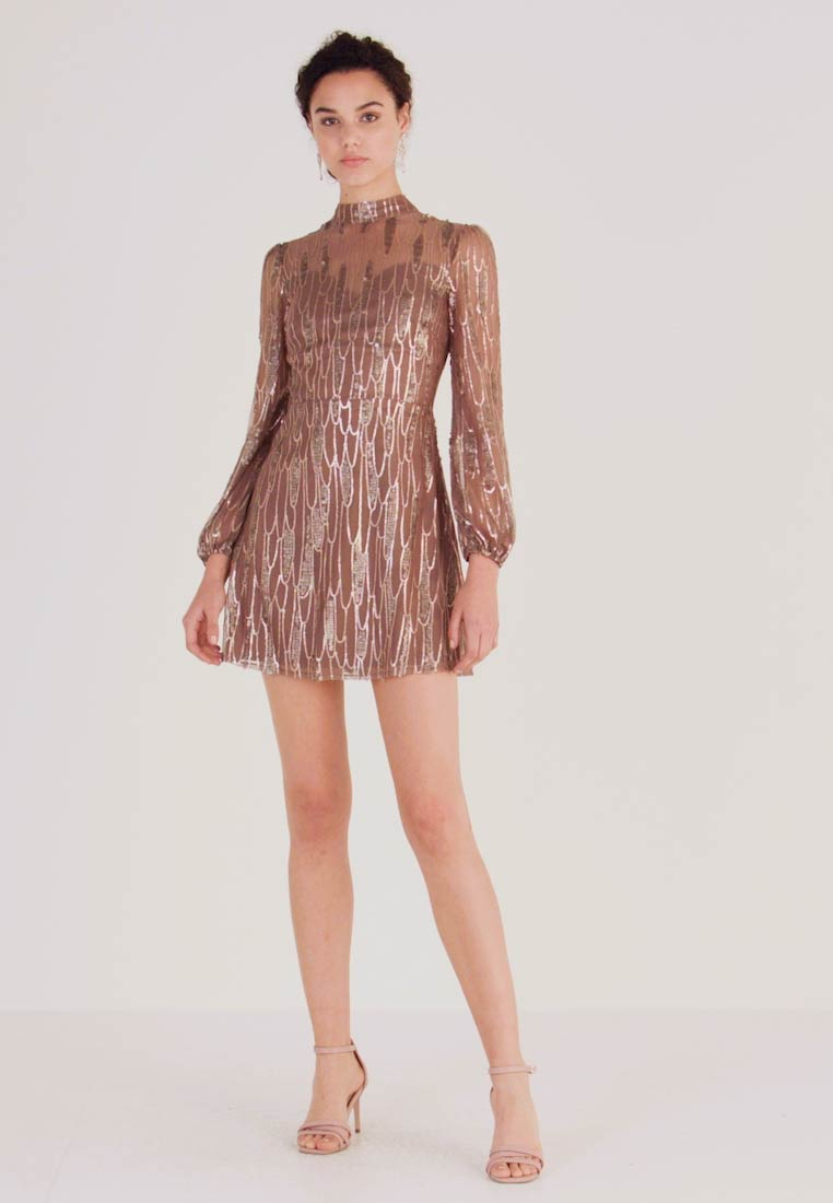 Love Triangle - SCATTERED JEWELS - Cocktail dress / Party dress - bronze - 1