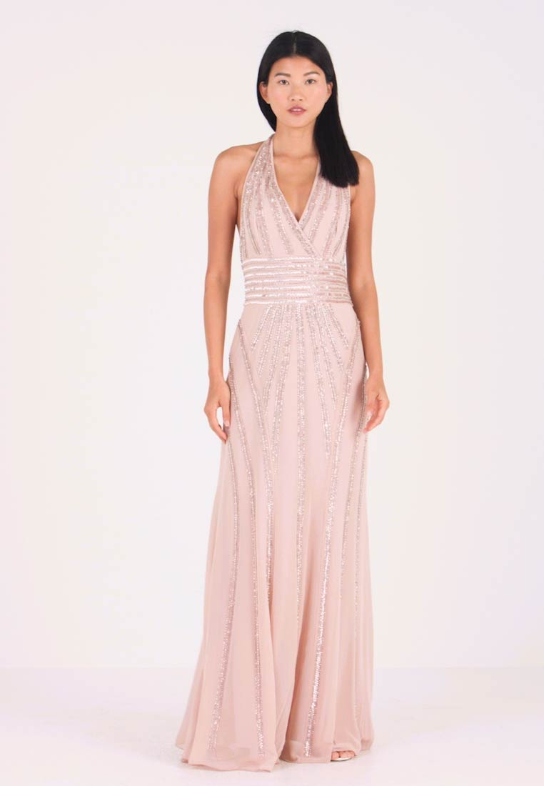 Lace & Beads - MORGAN MAXI - Galajurk - nude - 1