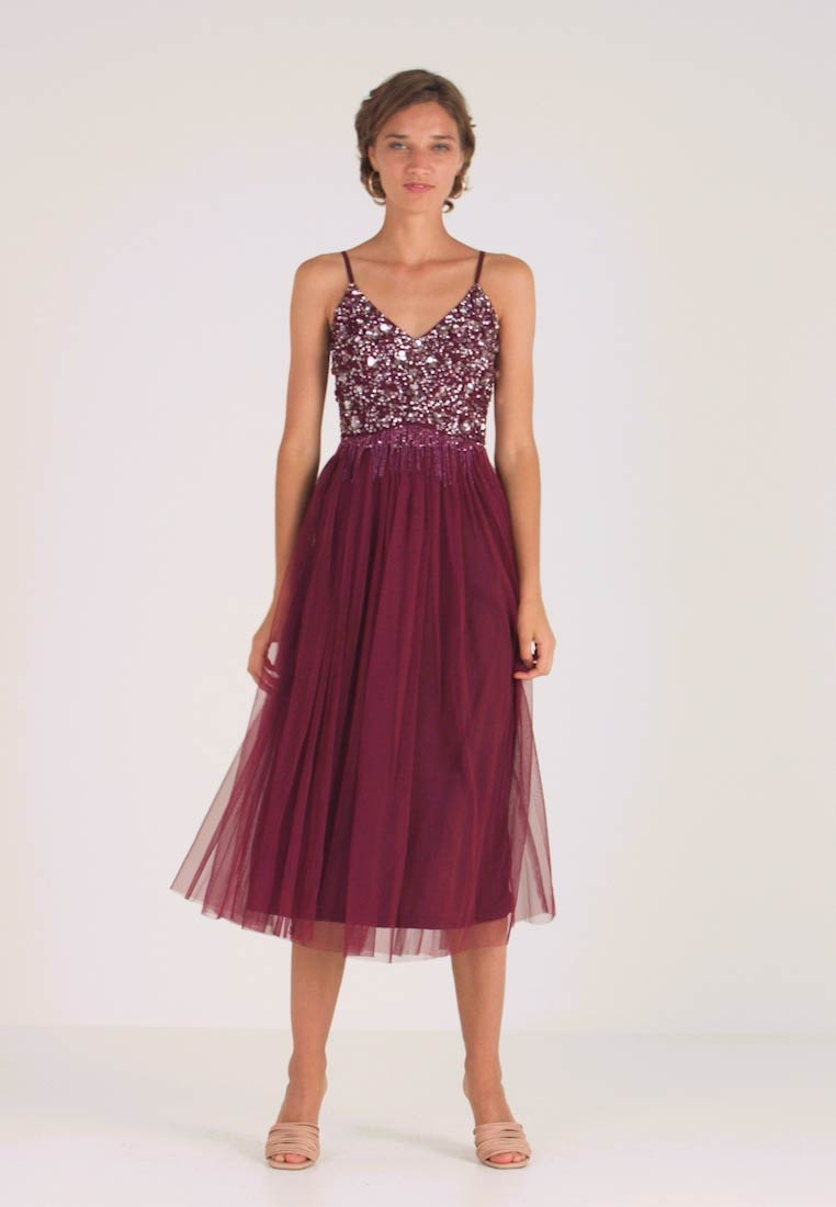 Lace & Beads - RIRI MIDI DRESS - Cocktailjurk - burgundy - 1