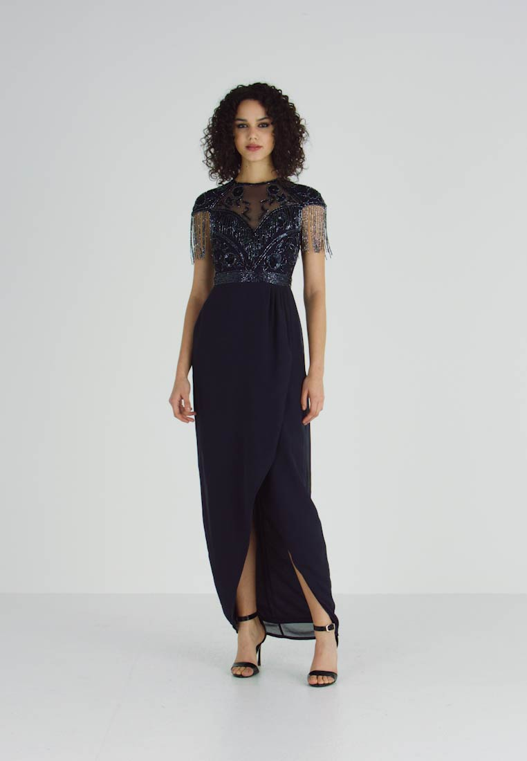 Lace & Beads - SAVANNA WRAP MAXI - Occasion wear - navy - 1