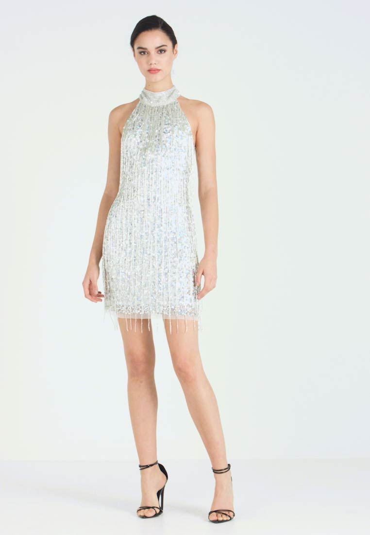 Lace & Beads - NADIA MINI - Cocktail dress / Party dress - silver - 1