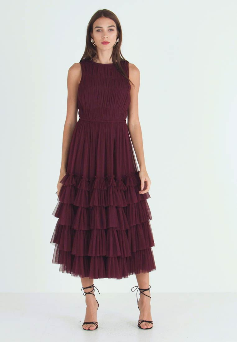 Lace & Beads - MEL MIDI - Cocktail dress / Party dress - burgundy - 1