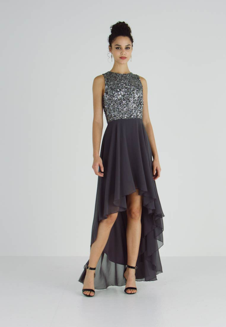 Lace & Beads - HANKERCHIEF HIGH LOW DRESS - Iltapuku - charcoal - 1