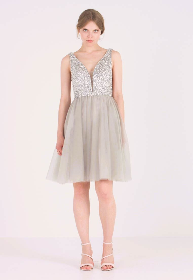 Cocktail dress / Party dress - silver