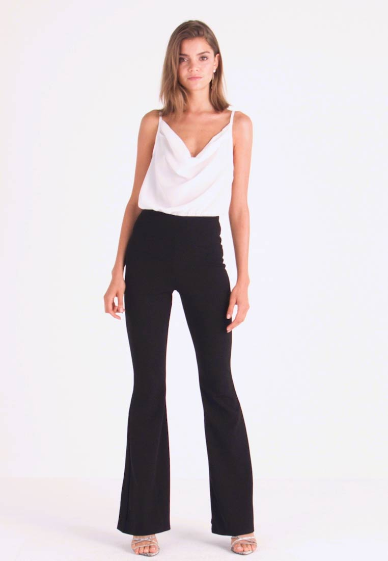 Missguided - TROUSER FLARE - Trousers - black - 1