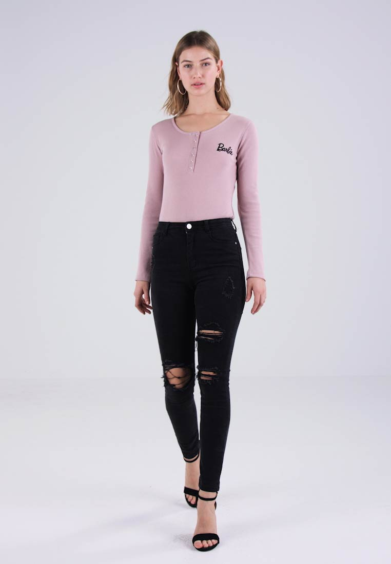 Missguided - SINNER HIGHWAISTED AUTHENTIC RIPPED  - Jeans Skinny Fit - dark grey - 1