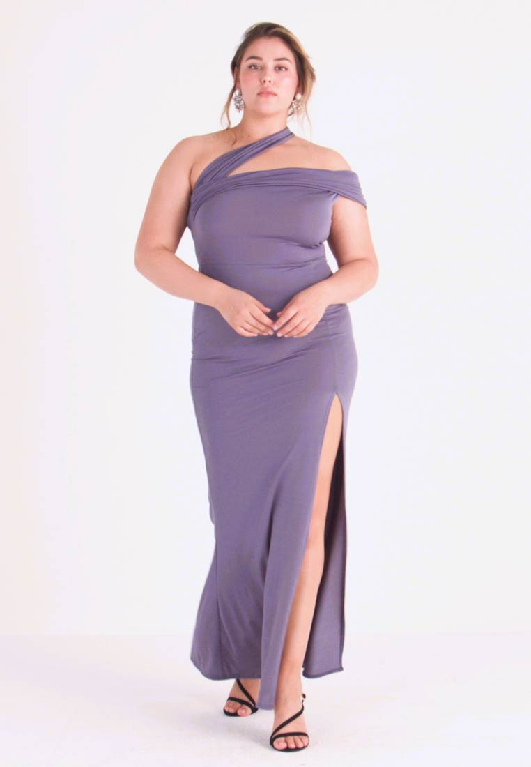 Missguided Plus - ONE SHOULDER MAXI DRESS - Occasion wear - lilac - 1