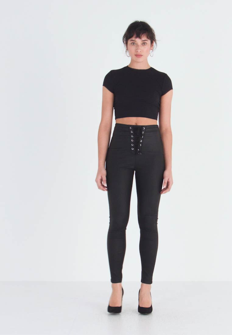 Missguided Petite - VICE COATED  - Bukse - black - 1