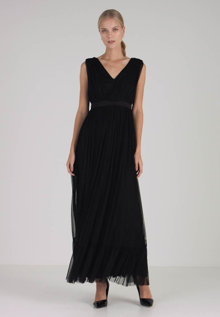 PLAIN V NECK DRESS , Robe de cocktail , black