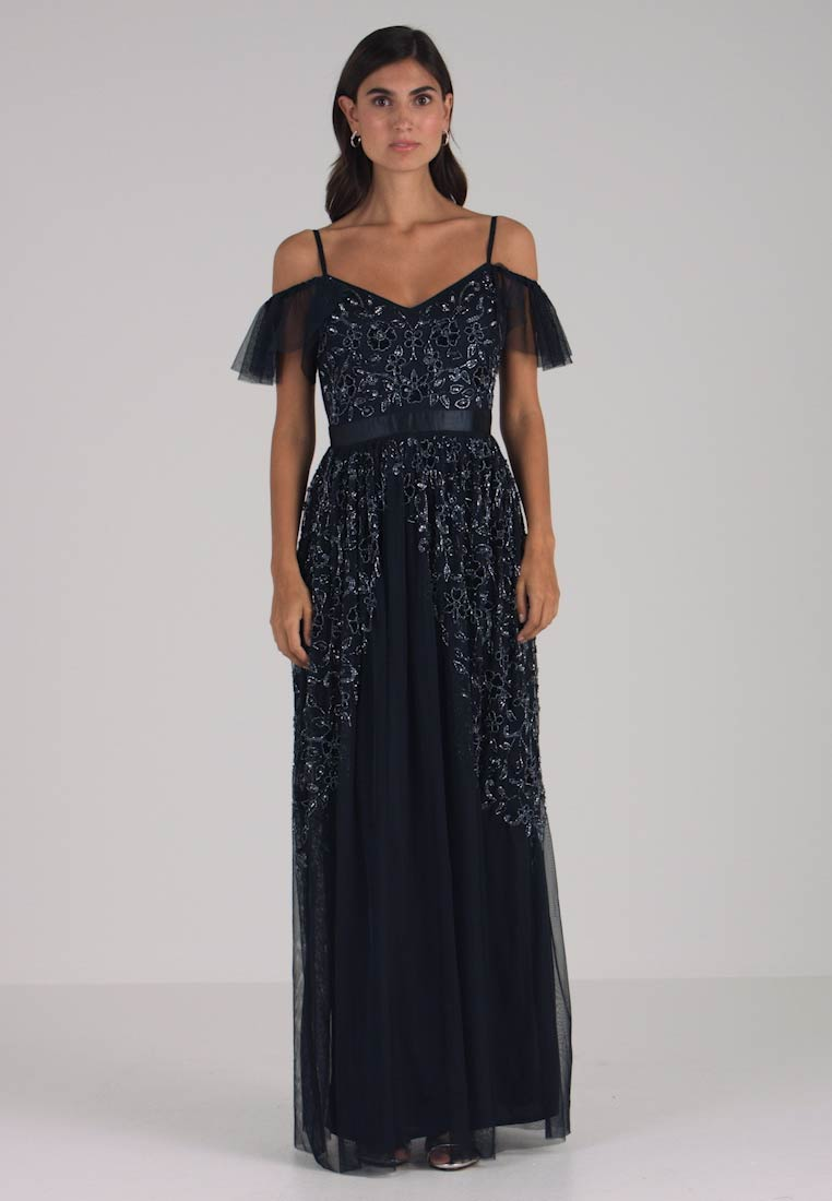 Maya Deluxe - COLD SHOULDER EMBELLISHED MAXI DRESS - Occasion wear - navy - 1