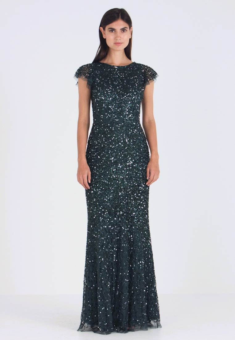 Maya Deluxe - ALL OVER EMBELLISHED MAXI DRESS - Occasion wear - emerald - 1