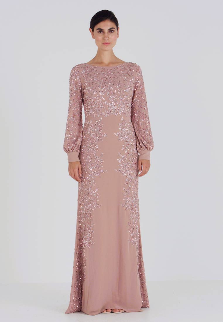 Maya Deluxe - FLORAL EMBELLISHED MAXI DRESS WITH BISHOP SLEEVES - Occasion wear - pale mauve - 1