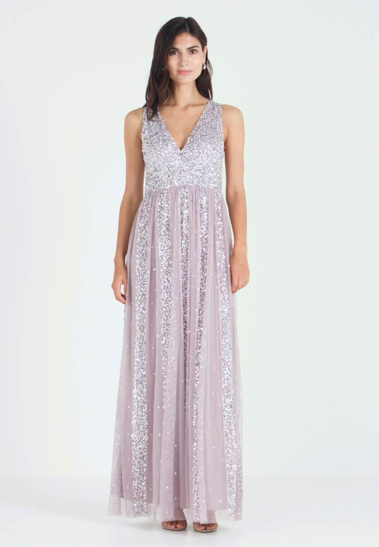 Maya Deluxe - STRIPE EMBELLISHED SLEEVELESS MAXI DRESS - Galajurk - frosted lilac - 1