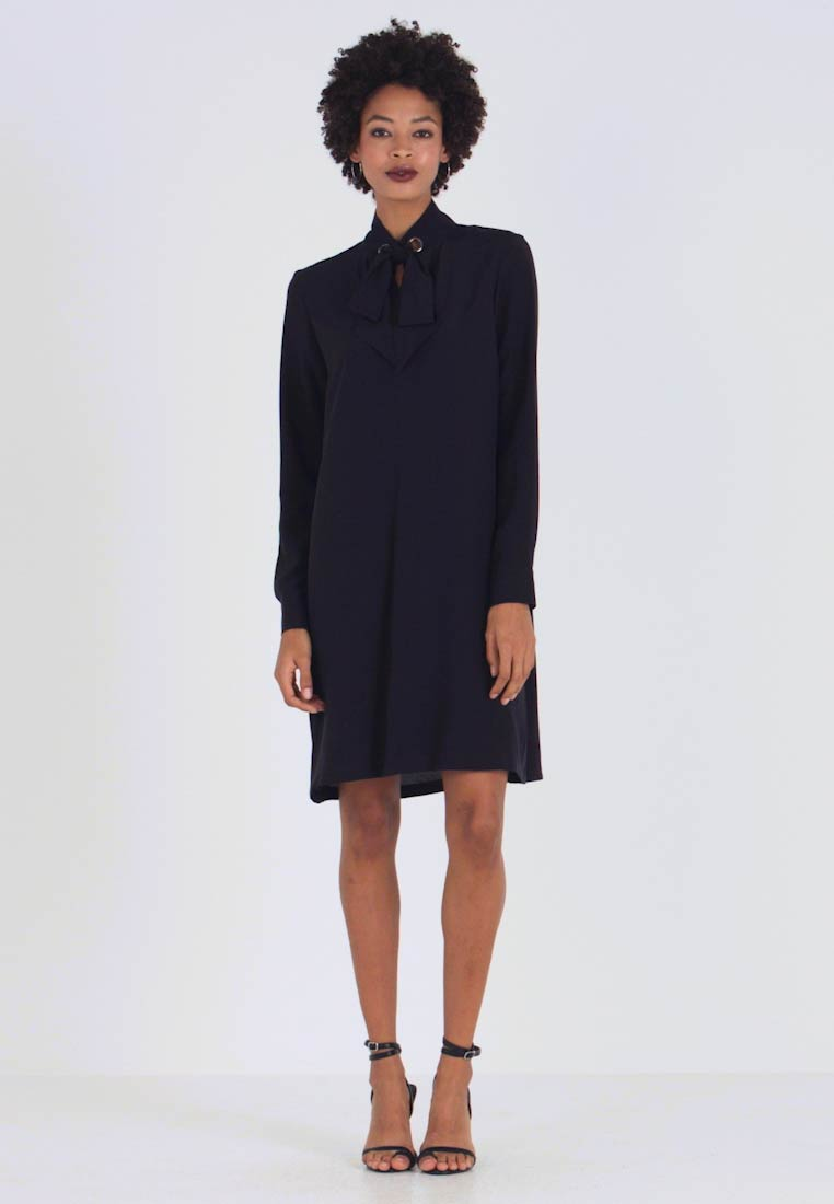 Marc O'Polo PURE - DRESS SLIGHTLY A-LINE STAND UP - Sukienka koszulowa - navy - 1