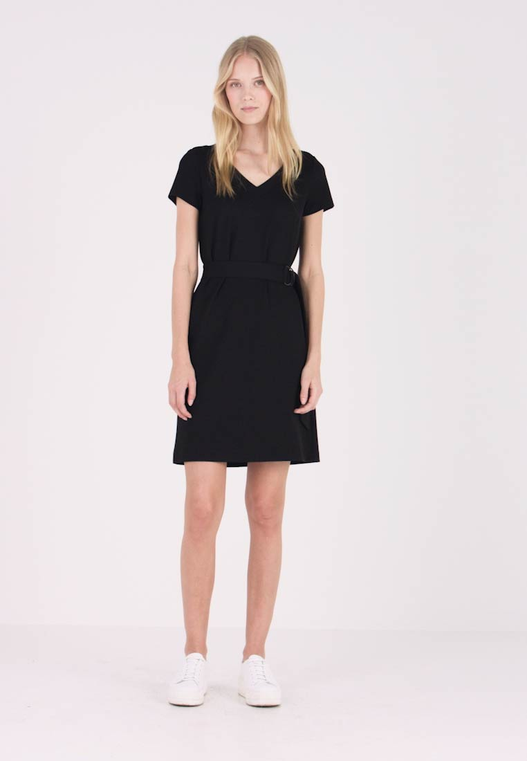 More & More - DRESS INTERLOCK - Robe en jersey - black - 1