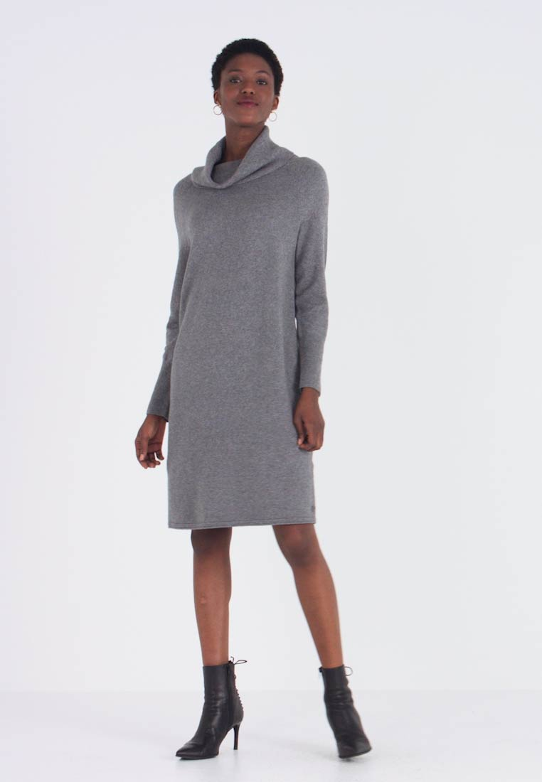 Marc O'Polo - HEAVY DRESS LONGSLEEVE - Strikket kjole - middle stone melange - 1
