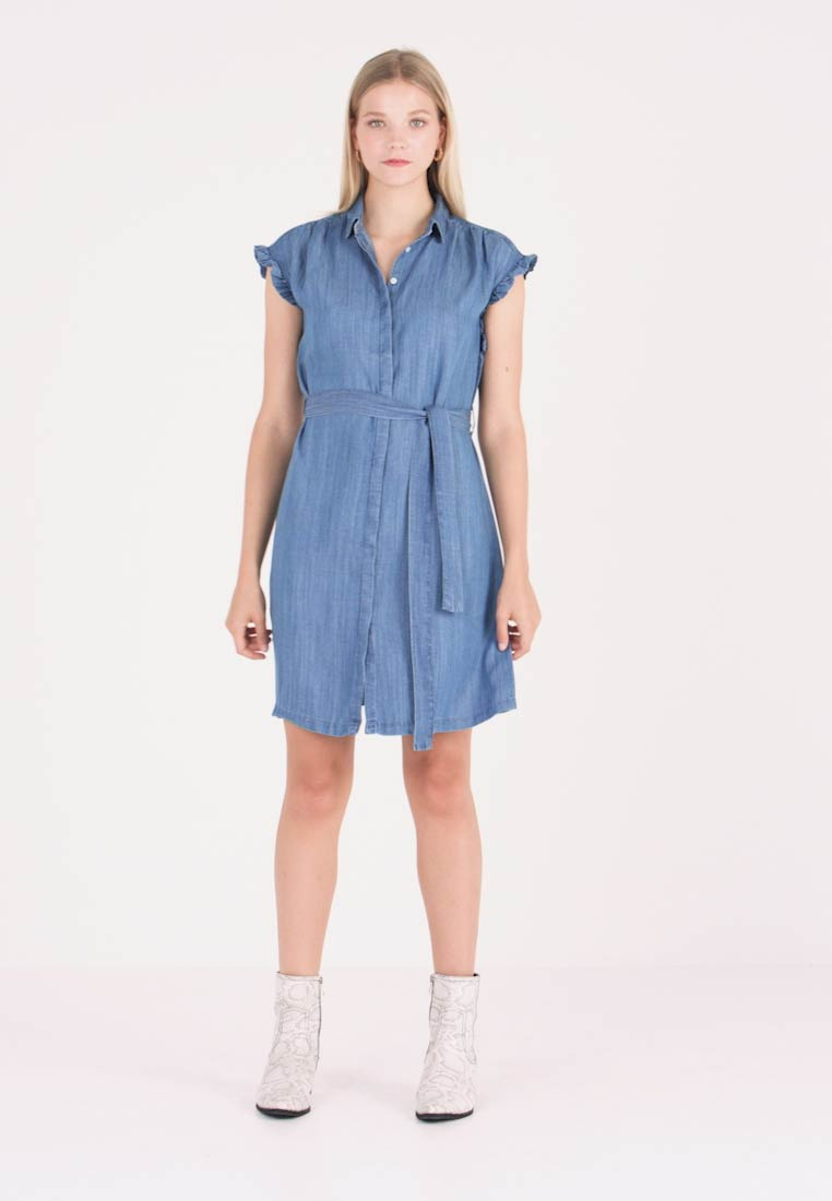 Mavi - SHORT SLEEVE DRESS - Jeanskleid - light indigo - 1