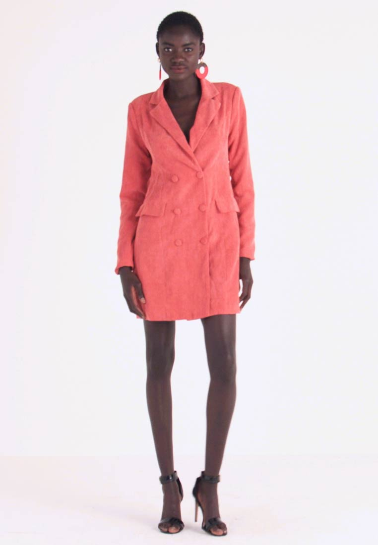 Missguided Tall - BUTTONED BLAZER DRESS - Vestido camisero - coral - 1