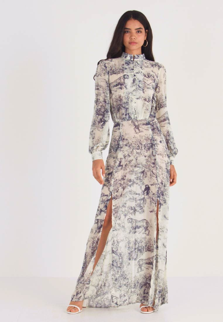 Missguided Tall CHINA PLATE BUTTON FRONT MAXI DRESS ...