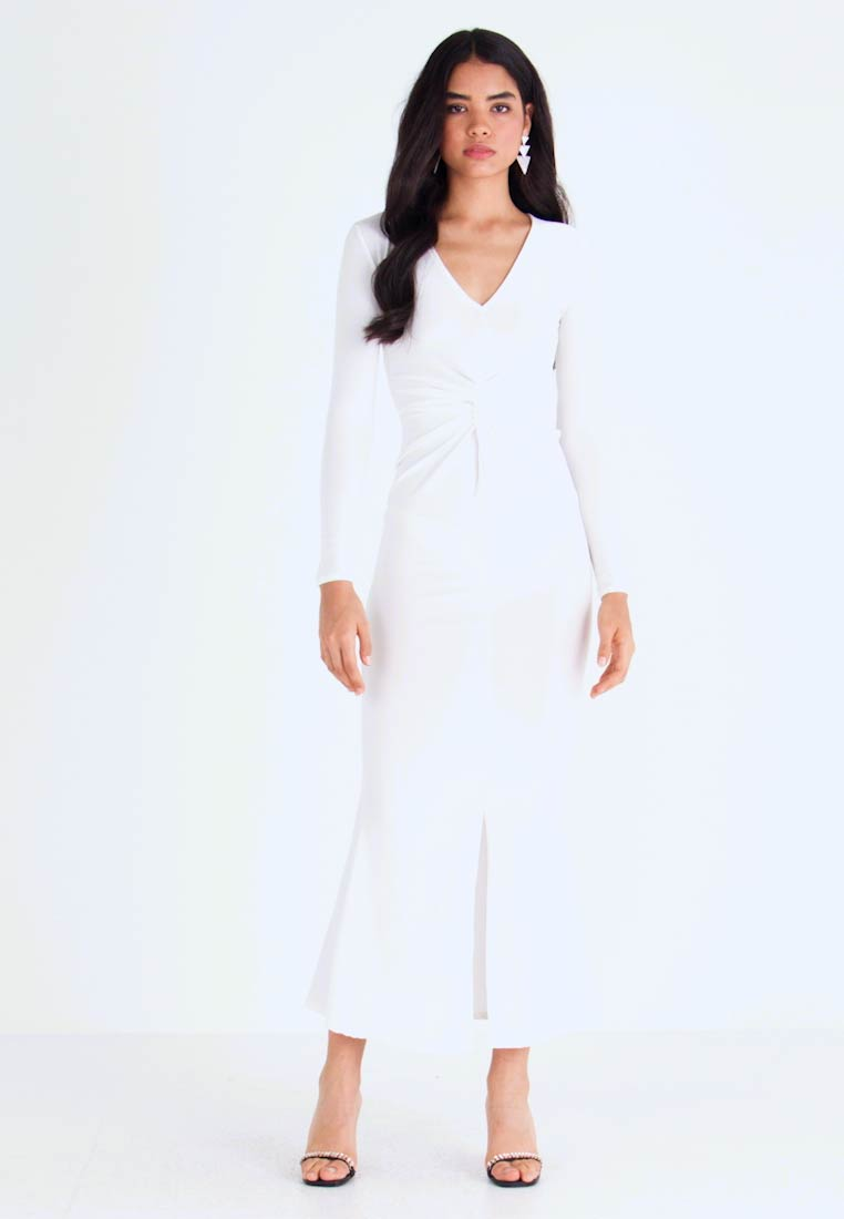 Missguided Tall - SPARKLE TWIST FRONT DRESS - Robe de cocktail - white - 1