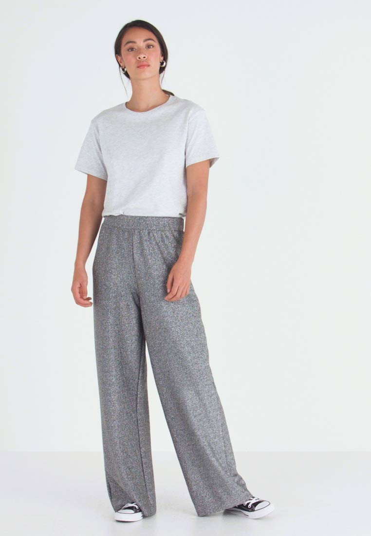 Monki - DONNA PARTY TROUSERS - Broek - silver - 1