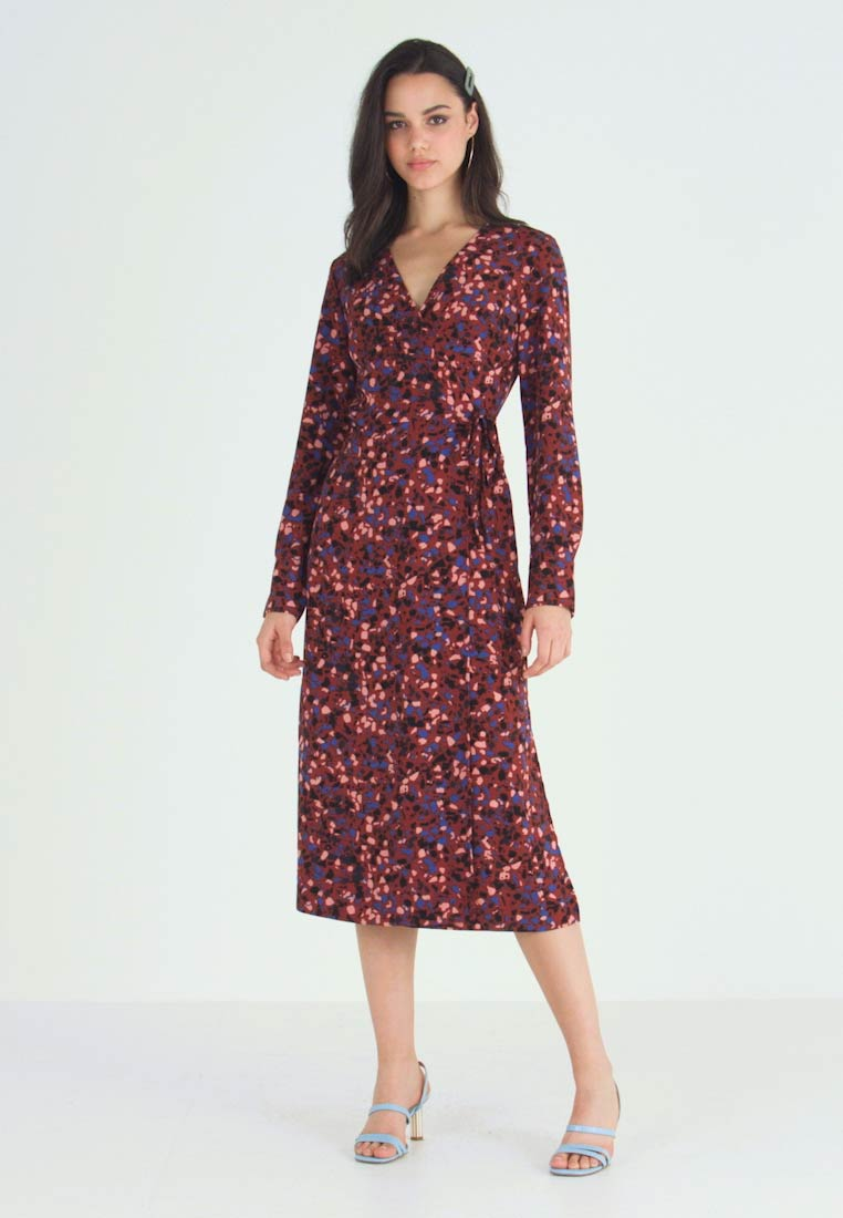 Monki - ERICA DRESS - Korte jurk - red/multisprinkle - 1