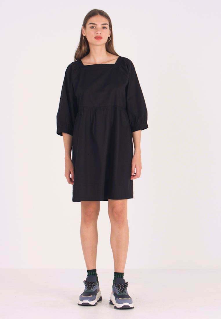 Monki - ROMINA DRESS UNIQUE - Kjole - black - 1