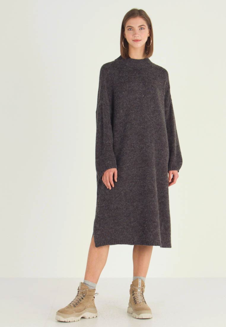 Monki - MALVA DRESS - Strikket kjole - grey dark unique - 1