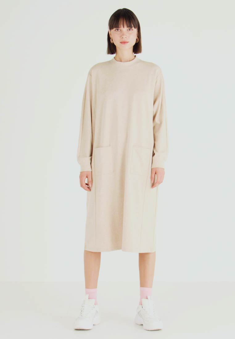 Monki - PLING DRESS - Day dress - beige - 1