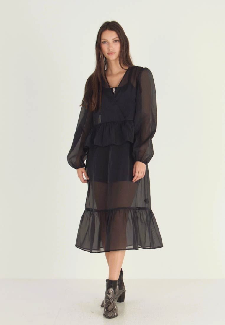 Monki - JENNIFER DRESS - Day dress - organza black - 1