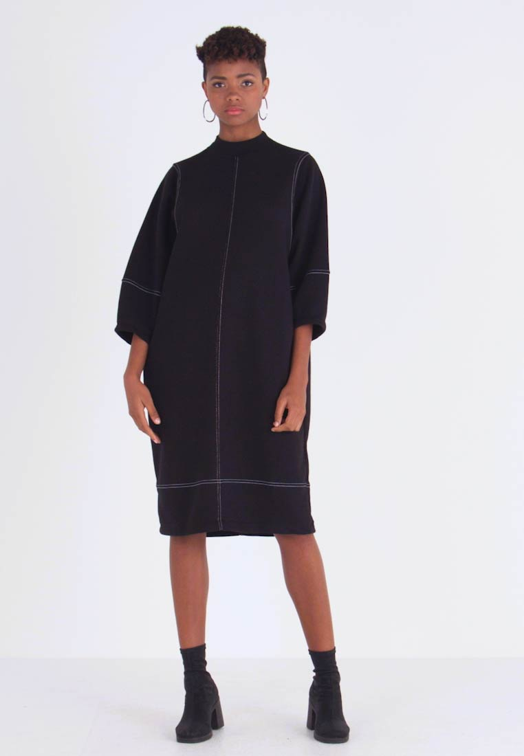 Monki - KARIN DRESS - Jerseyjurk - black/white - 1
