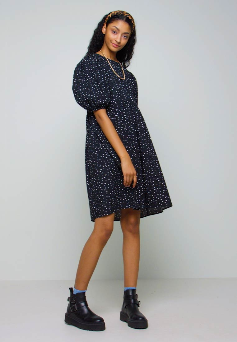 Monki - MELODY DRESS - Kjole - black dark/unique - 1