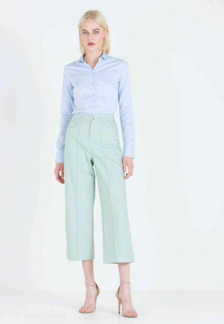 Mos Mosh - NIGHT PANT SUSTAINABLE - Trousers - mint haze - 1