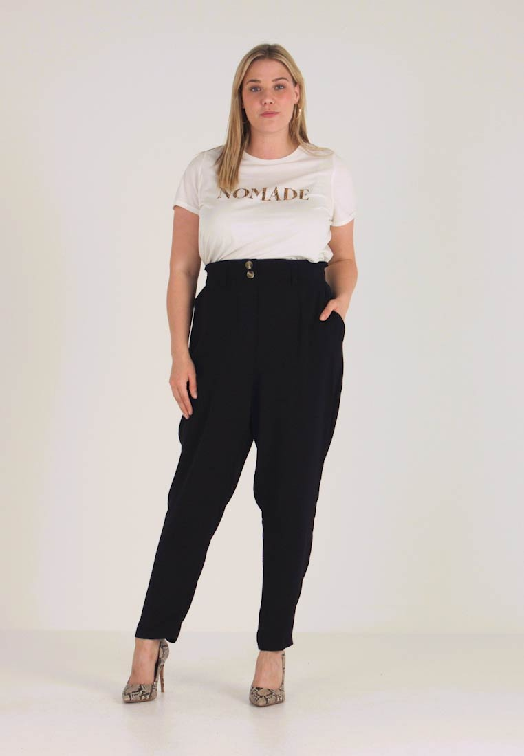 New Look Curves - X SOFT UTILITY TROUSER - Kalhoty - black - 1