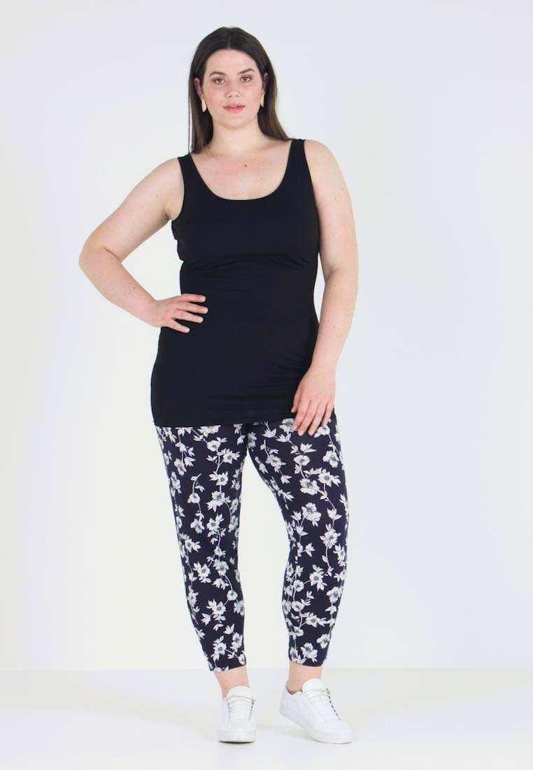 New Look Curves - NEW LONGLINE 2 PACK - Top - black/white - 1