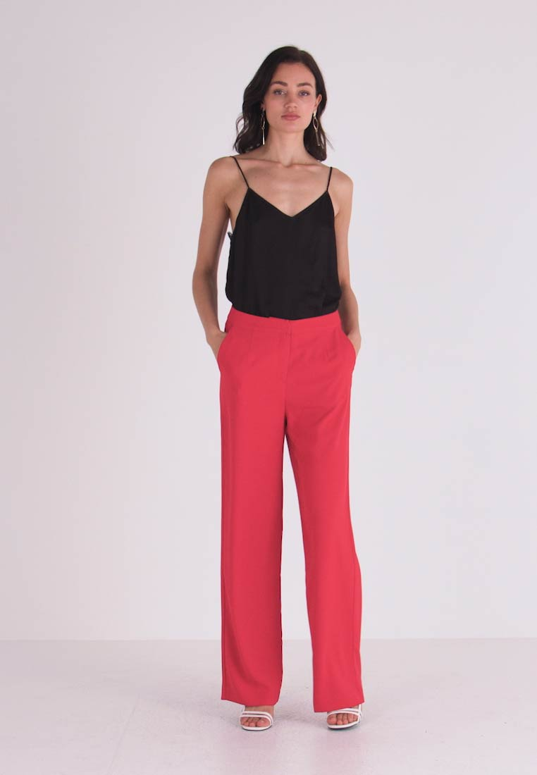 Nly by Nelly - MY FAVOURITE PANTS - Trousers - red - 1