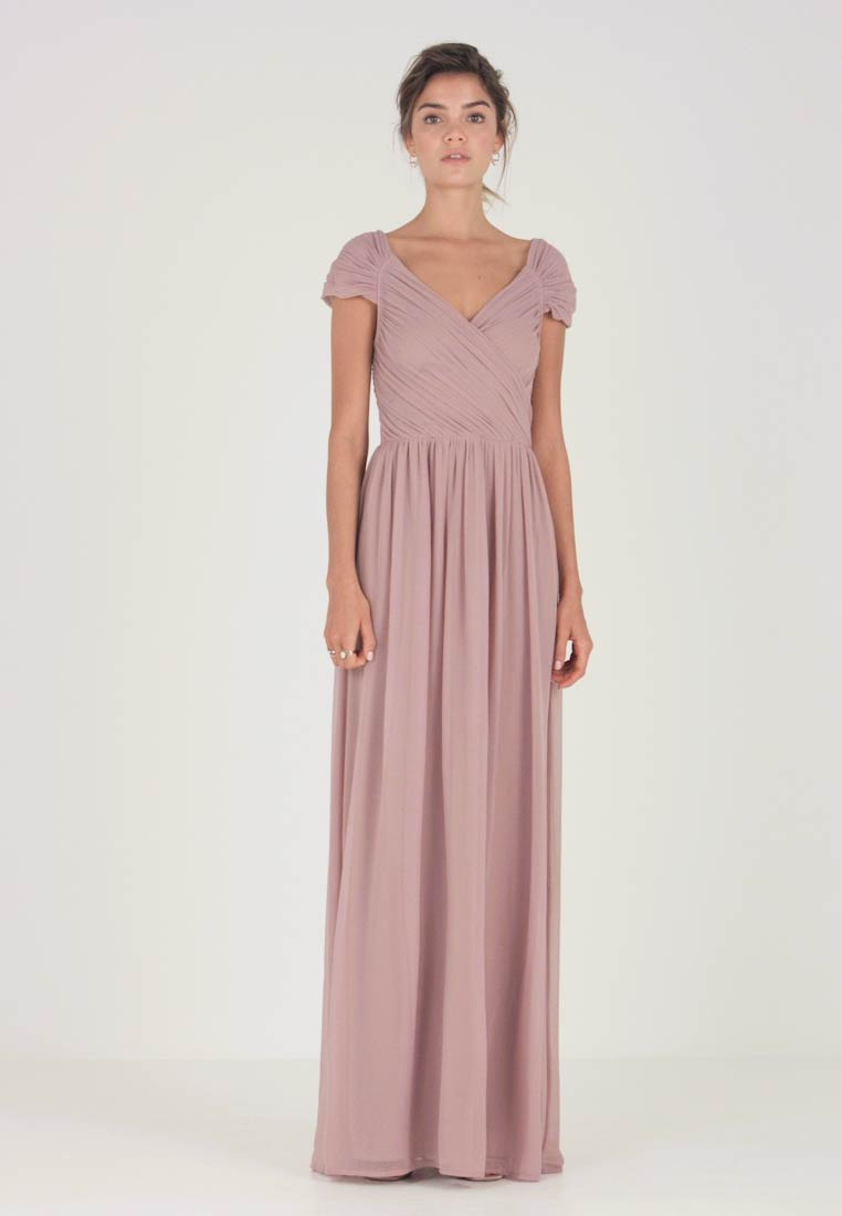 Nly by Nelly - CAP SLEEVE MAXI GOWN - Abito da sera - dark rose - 1