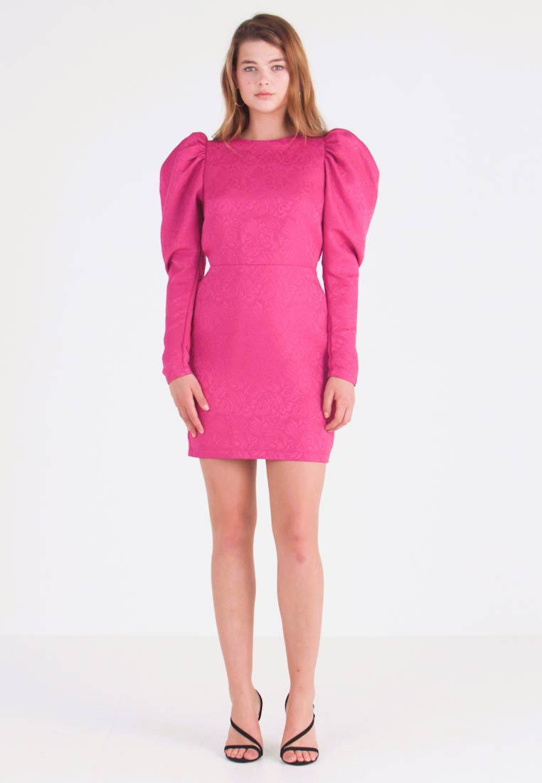 Nly by Nelly - PUFF SLEEVE DRESS - Cocktailjurk - fuchsia - 1