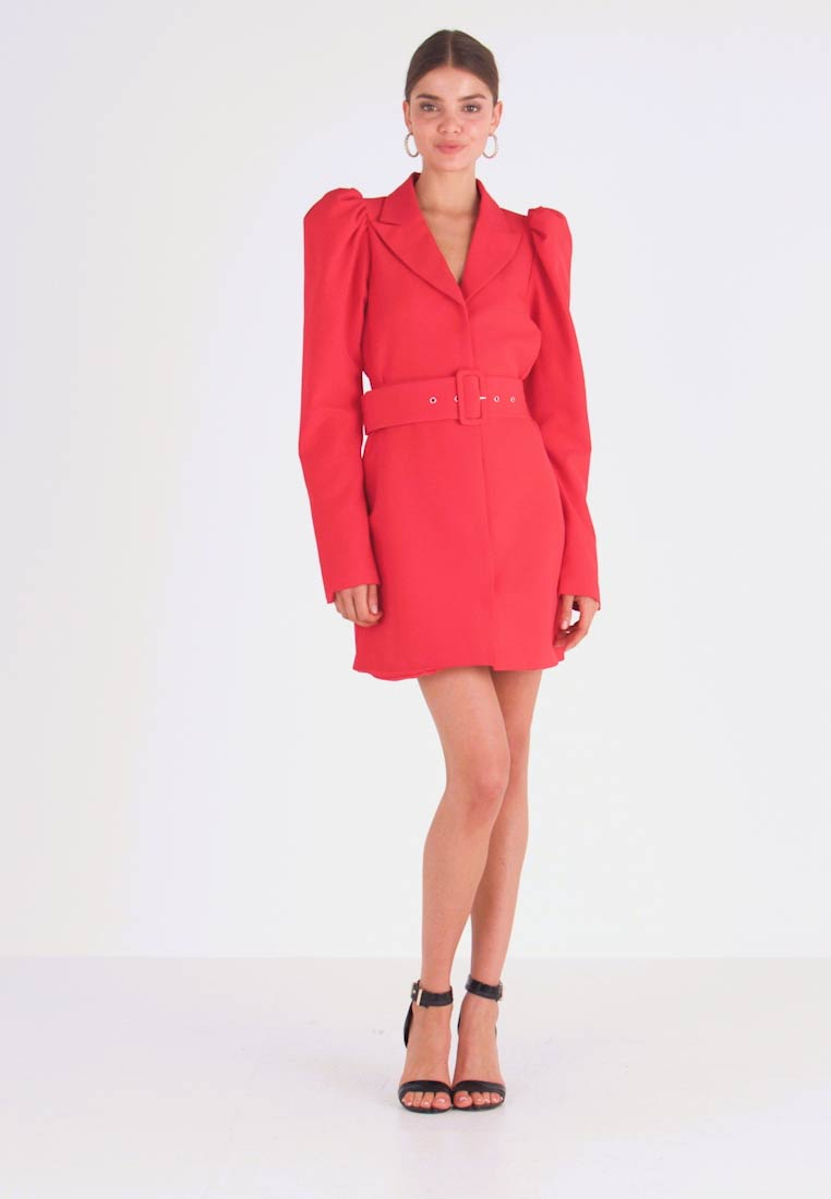 Nly by Nelly - VOLUME SLEEVE SUIT DRESS - Denní šaty - red - 1