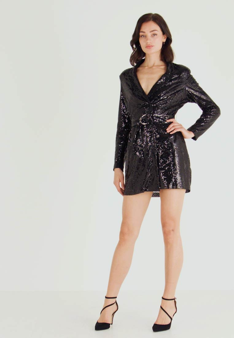 Nly by Nelly - FABULOUS SEQUIN SUIT DRESS - Cocktail dress / Party dress - black - 1