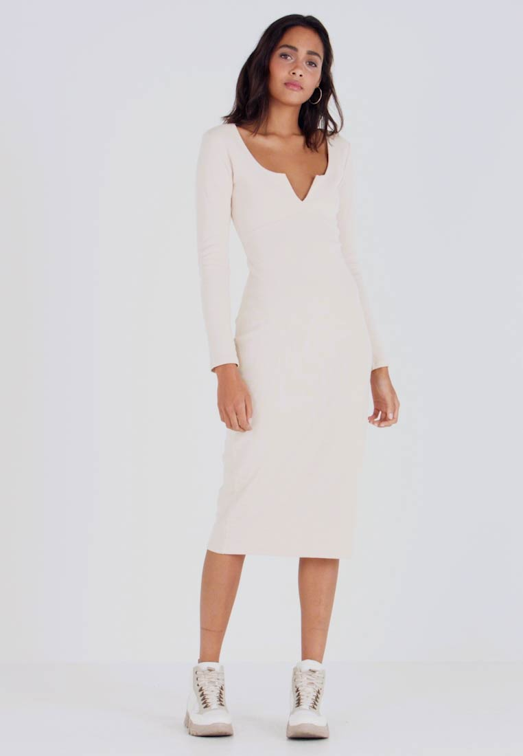 Nly by Nelly - MIDI DRESS - Žerzejové šaty - creme - 1