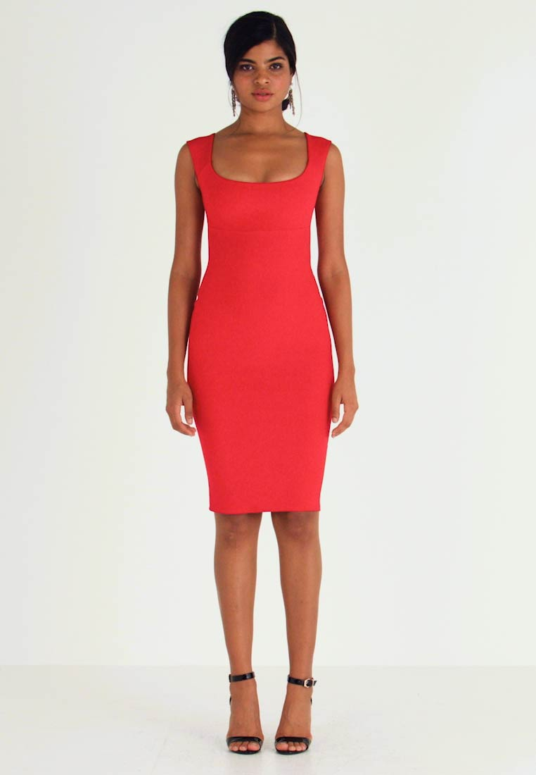 Nly by Nelly - PUSH UP NECKLINE DRESS - Tubino - red - 1