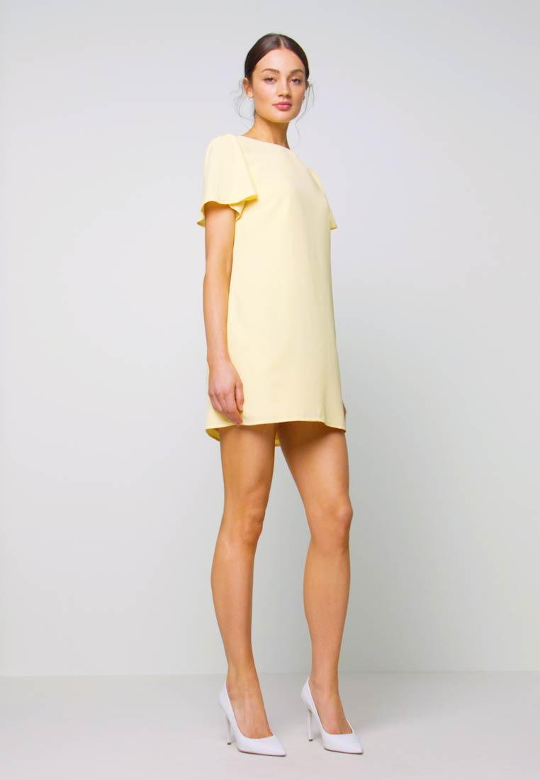 Nly by Nelly - FRILL PUFF SLEEVE DRESS - Robe d'été - light yellow - 1