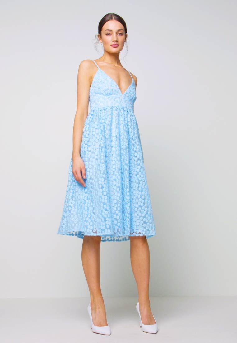 Nly by Nelly - EMBROIDERED STRAP DRESS - Juhlamekko - blue - 1