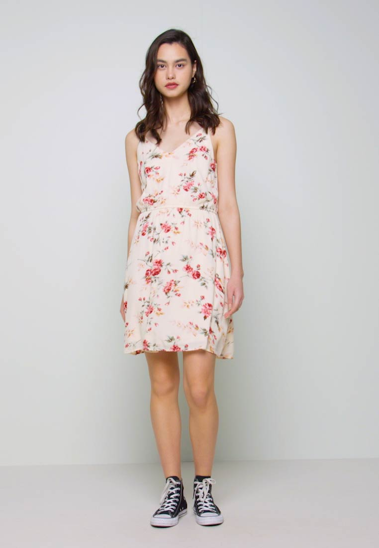ONLY - ONLKARMEN SHORT DRESS - Day dress - creme brûlée/rose - 1